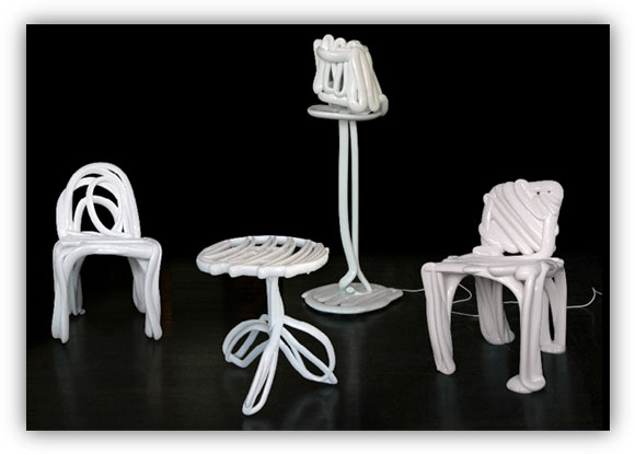 Future Converged: Direct Digital Manufacturing - 3D Chairs